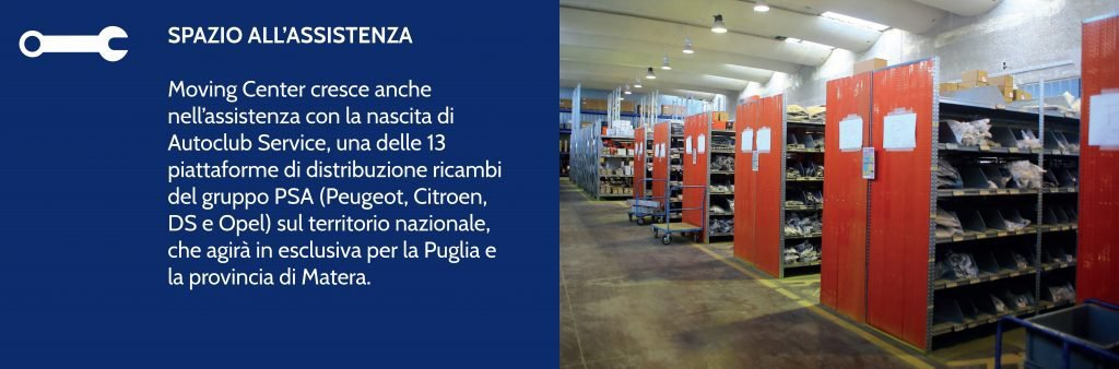 Da Moving Center a Bari trovi anche assistenza e magazzino ricambi