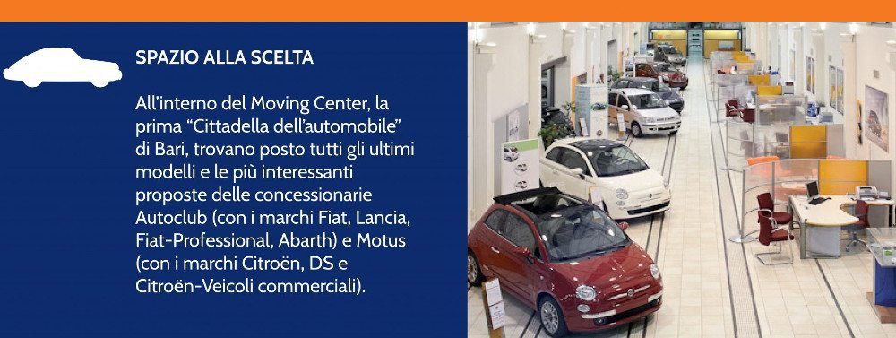 Moving Center, la prima cittadella dell'automobile a Bari.